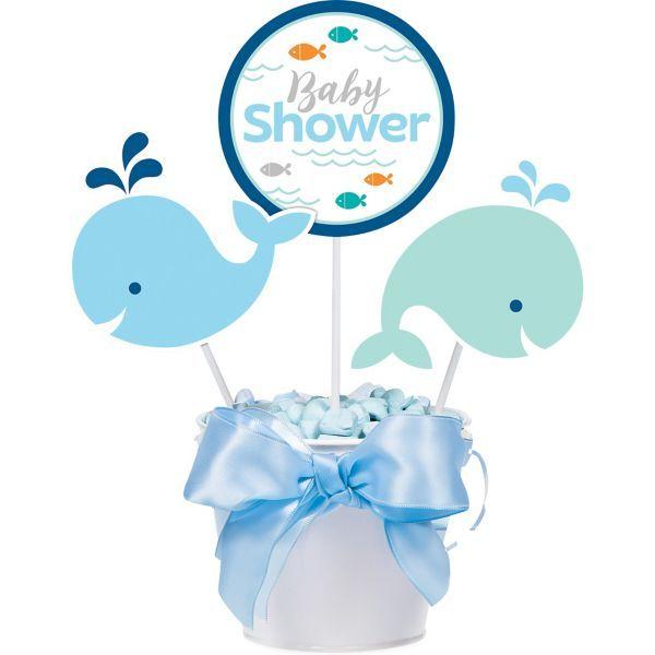Lil/' Spout Whale Pink Baby Shower Party Supplies Centerpiece Sticks