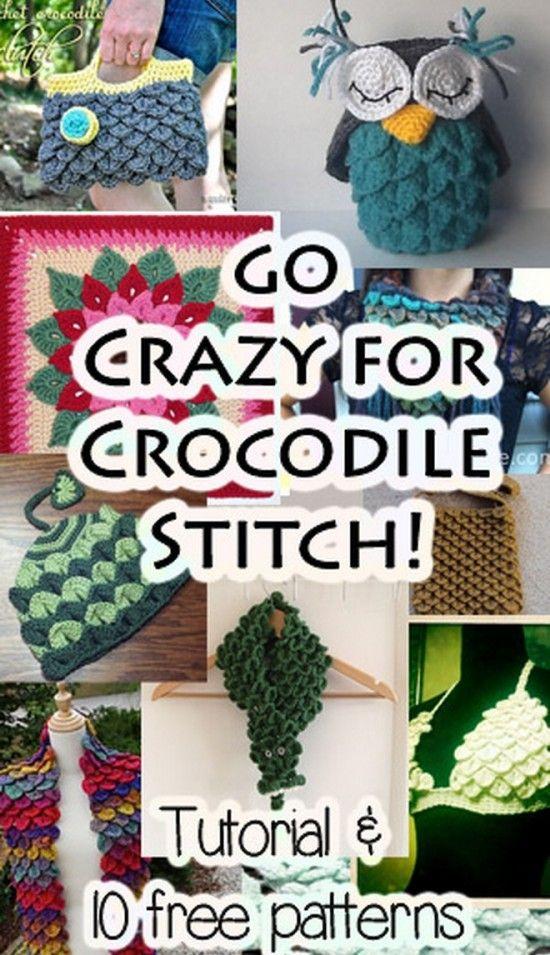 Free Crochet Patterns Crocodile Stitch