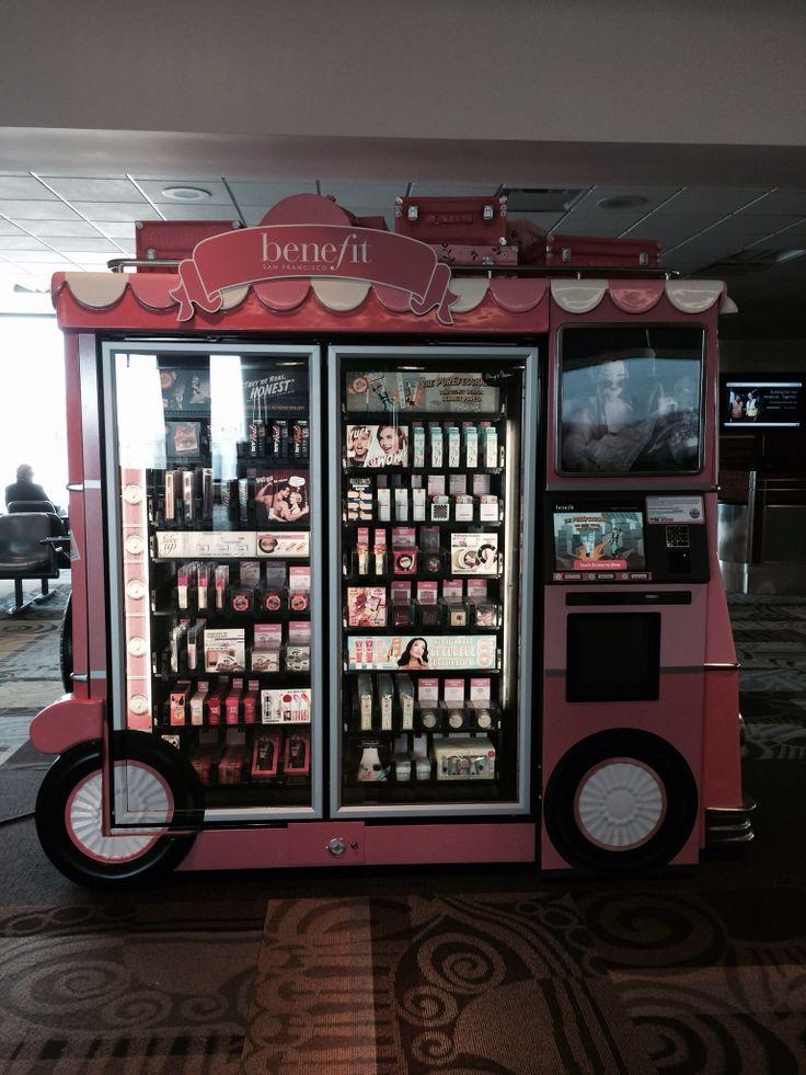 benefit cosmetics vending machine SHOPPERAZZI Retail