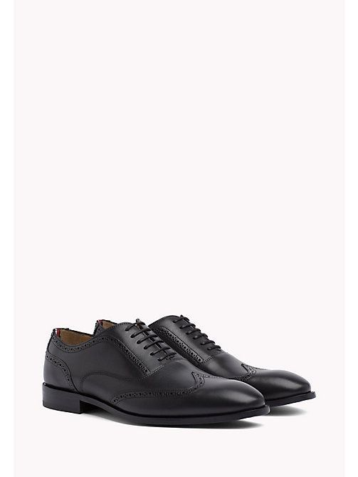 detailed look bfbce a10cf TOMMY HILFIGER Classic Leather Brogues - BLACK - TOMMY ...
