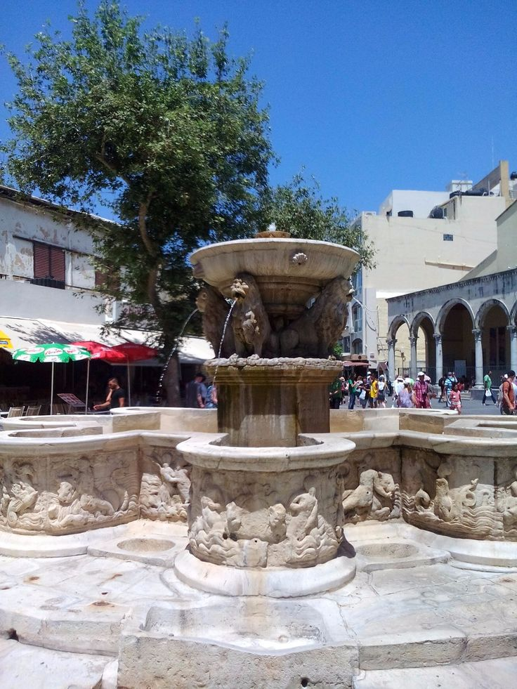 Morozini Fountain, Lions Square, Heraklion, Crete
