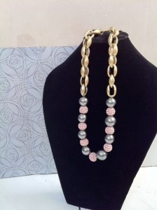 Pink-Pastel. Beads Necklace. IDR 75.000