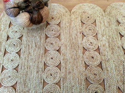 """Текстиль, ковры ручной работы. Ярмарка Мастеров - ручная работа. Купить Коврик """"Лесенка-мини"""". Handmade. Бежевый, интерьерный коврик"""