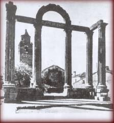 Los Mármoles en Talavera la Vieja antes de quedar sepultada por las aguas