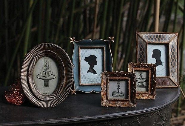 Unique Picture Frames, Set of 5 - From Antiquefarmhouse.com - http://www.antiquefarmhouse.com/current-sale-events/accent13/photo-frames-set-of-5.html