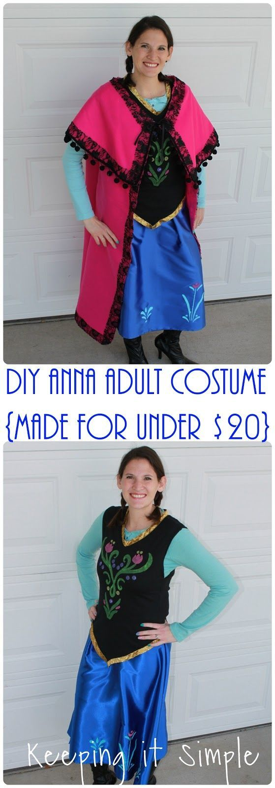 diy disney frozen anna adult costume made for less than 20 dollars - Halloween Anna Costume
