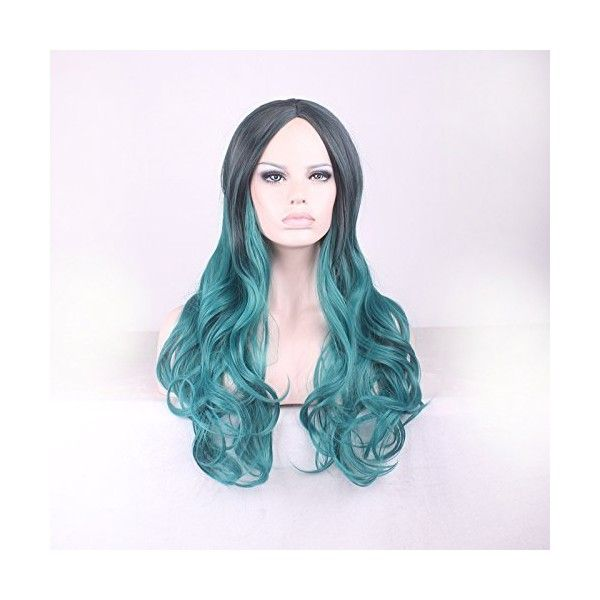 Upgrade Version Wig Gradient Long Curly Hair Cosplay Party Costume Wig... (23 AUD) ❤ liked on Polyvore featuring costumes, party halloween costumes, cosplay halloween costumes, role play costumes, wig costumes and pink halloween costumes