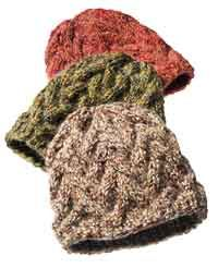 Cable-knit hat pattern
