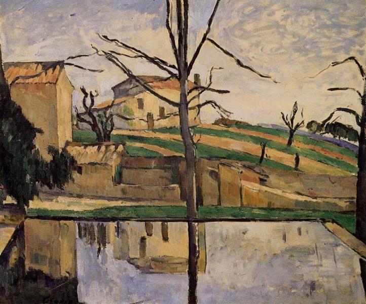 The Pool at Jas de Bouffan, c.1878 - Paul Cezanne - WikiArt.org