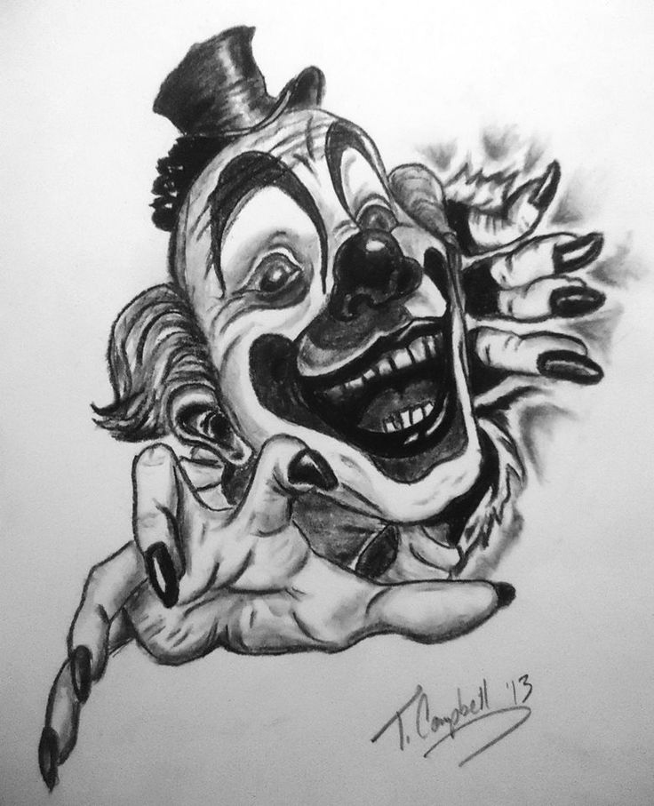 Clowns Tattoo Drawings Clown Tattoo by Phoenyxx782