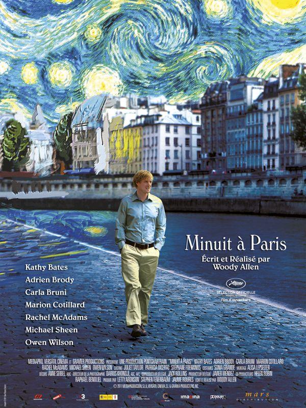 Minuit à Paris, Woody Allen, avec Owen Wilson, Rachel MacAdams, Marion Cotillard, sorti en 2011.