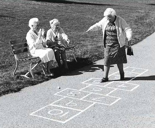Never too old to play...