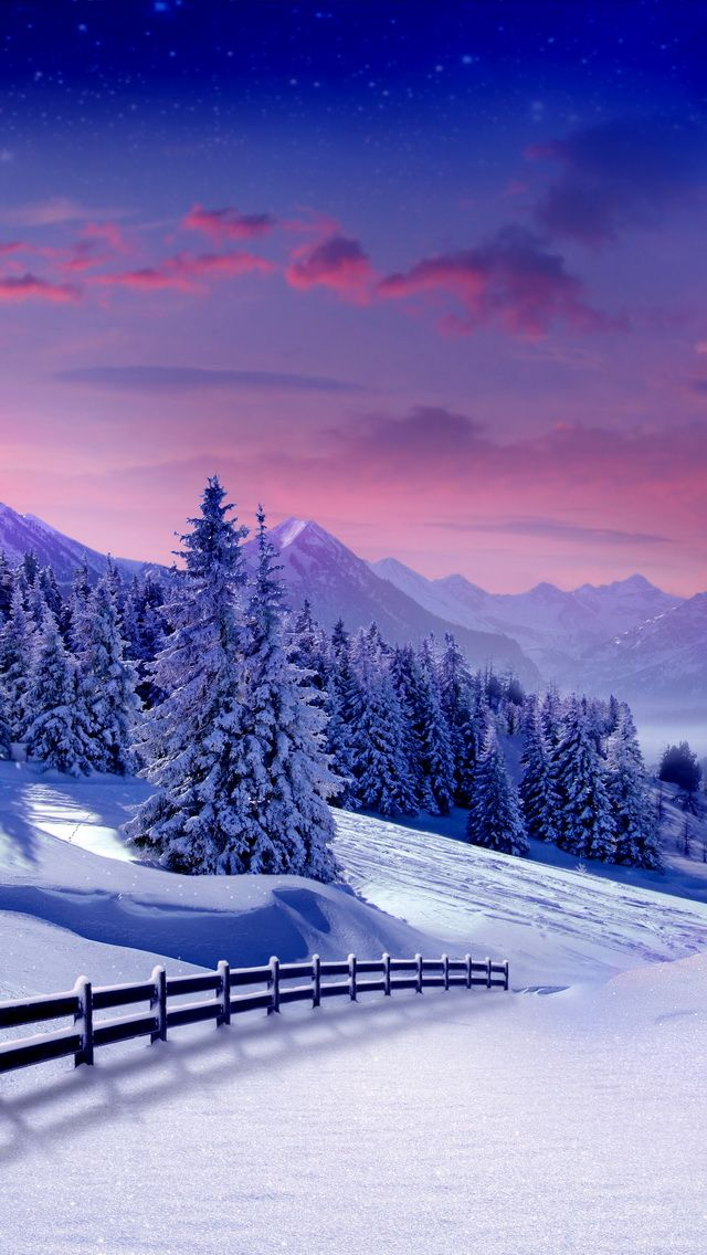 Winter landscape winter iphone wallpapers mobile9 - 10k wallpaper nature ...