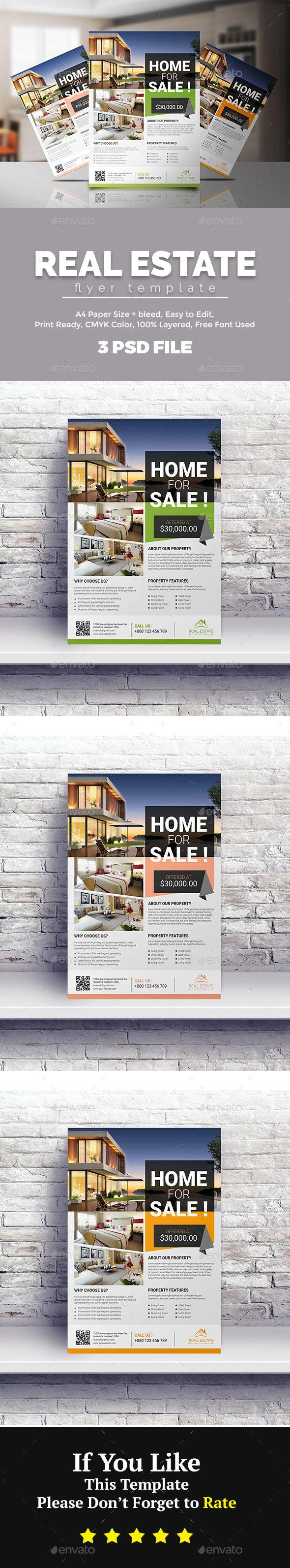 Real Estate Template%0A Real Estate Flyer