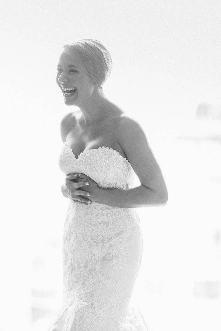 """Every bride is a happy bride in a Matthew Christopher wedding dress!  """"Emma"""" wedding gown by Matthew Christopher.  #marriedinmatthew Photo: Tim Tab Studios"""