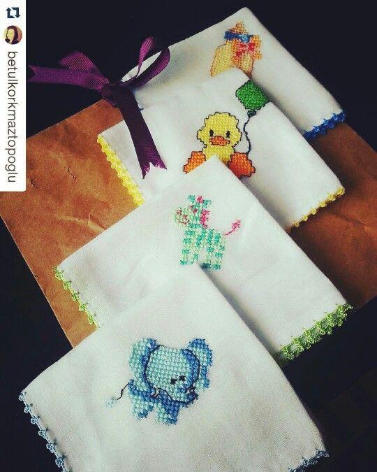 Kanavice bebek mendilleri Sipariş için instagram sayfam nakis_atolyesi