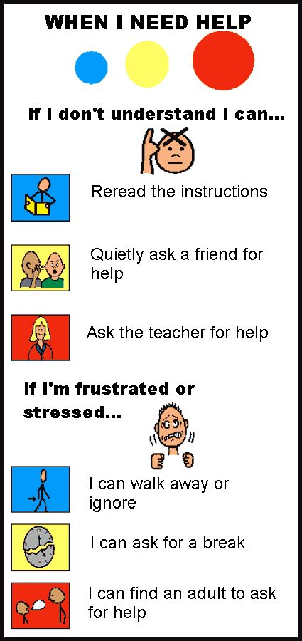 love the pictures & simple language. great strategies to help students manage own behavior