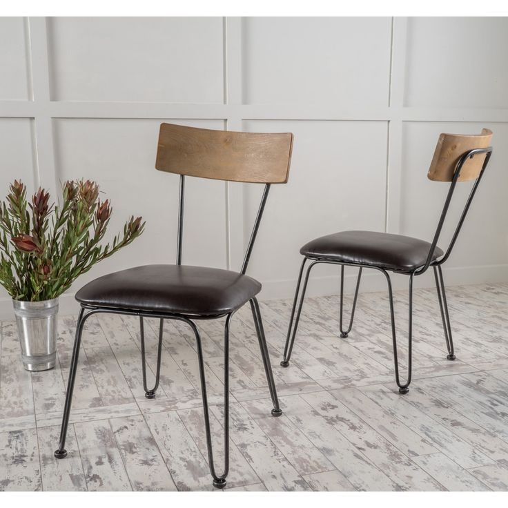 Metal And Leather Dining Chairs Metal Leather Dining Chairs