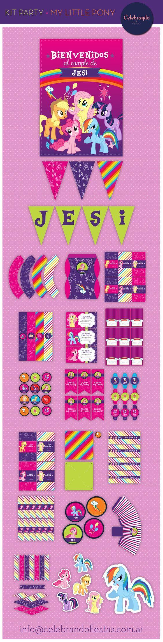 Kit imprimible Mi pequeño Pony (My little Pony) - Celebrando Fiestas
