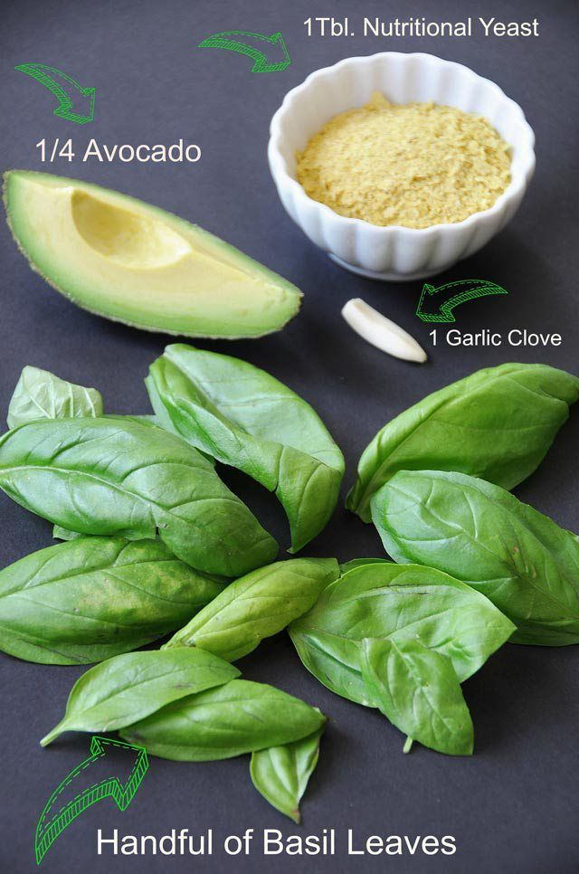 Ingredients for oil-free pesto