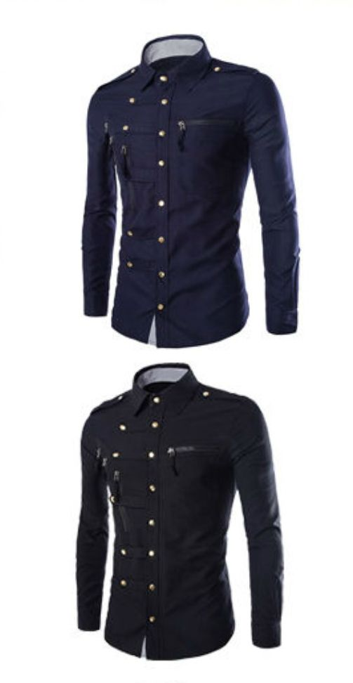 Fashion Mens Luxury Stylish Casual Dress Slim Fit T-Shirt Casual Long Sleeve New