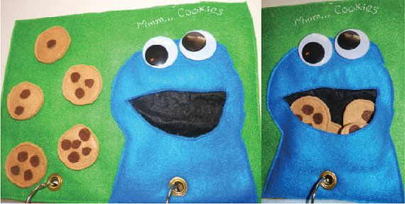 Cookie Monster Quiet Book Page