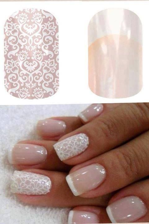 Love this classy look for wedding nails www.jamwithlaura.jamberrynails.net