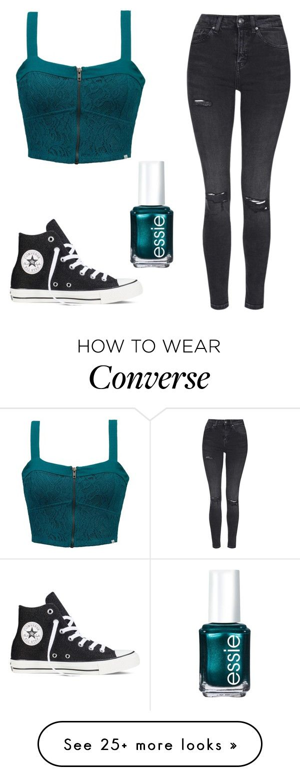 """Untitled #185"" by izzy6603 on Polyvore featuring moda, Element, Topshop, Converse y Essie"