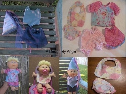 Sewing PATTERN PDF For Cabbage Patch Baby Doll Clothes Diapers and Bi