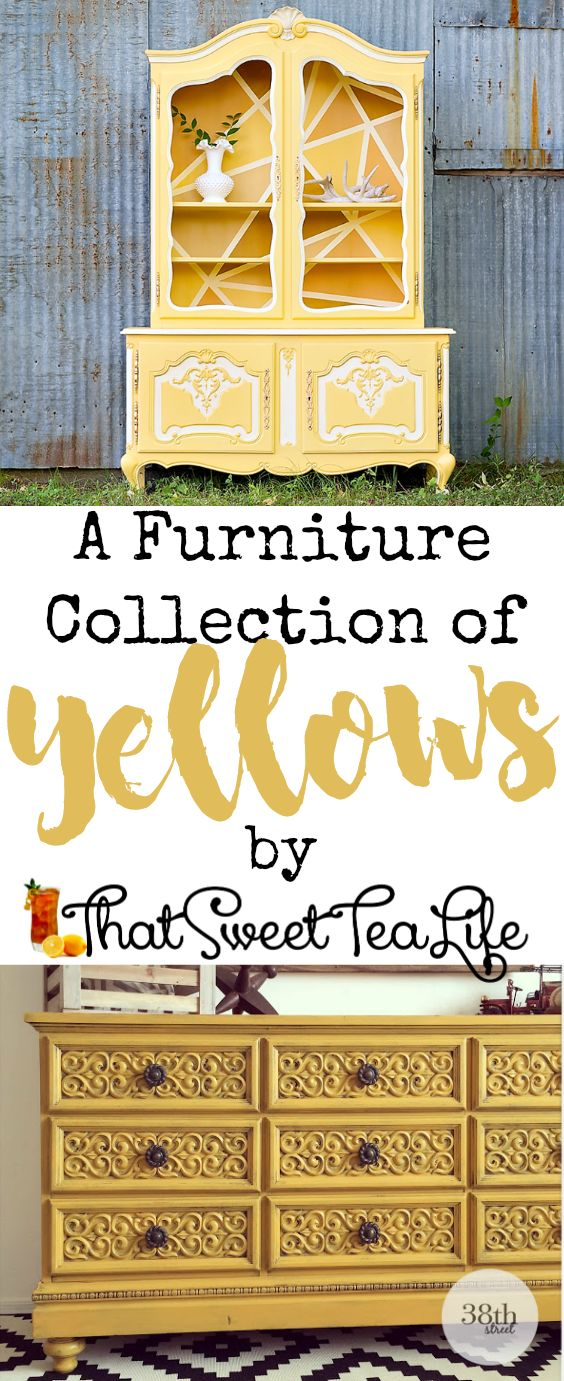 Over 20 Of the Most Lovely Yellow Painted Furniture I Could Find for You