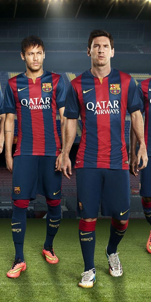 Barcelona 2014-15 Nike Home (Neymar, Lionel Messi)