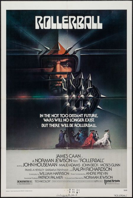 Rollerball (1975) The somnambulist 70's vision of the future might be a little too arty for its own good but the game/battle scenes are still the most exciting thing ever filmed. Spawned one of the most pointless remakes in movie history.