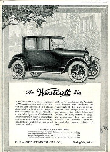 westcott automobile springfield ohio history springfield ohio history pinterest photos. Black Bedroom Furniture Sets. Home Design Ideas