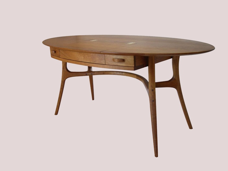 Oval Laptop Desk, Cherry | Office Furniture | Pinterest