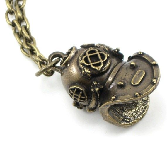 Holy Diver Necklace | LOVE this!  #deep sea #mkv #helmet