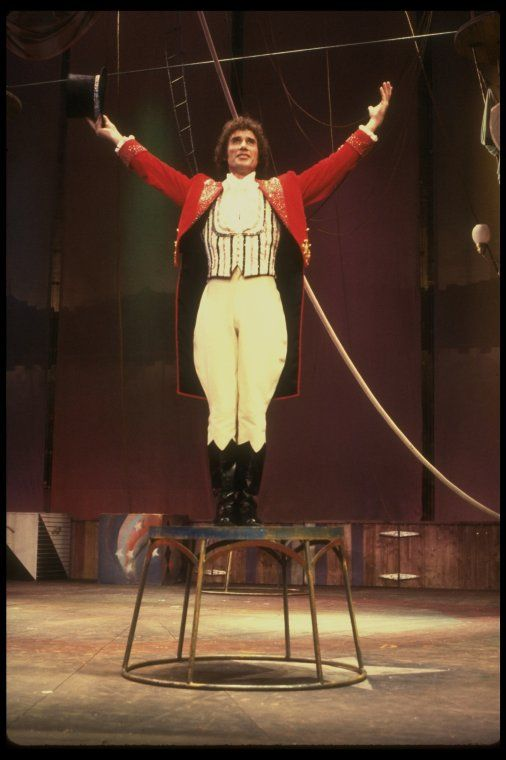 """Actor Jim Dale in a scene fr. the Broadway musical """"Barnum."""" (New York) #Broadway #Theater"""