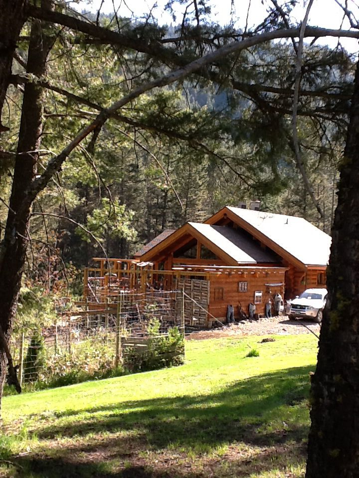 Our log timber frame home in the mountains.