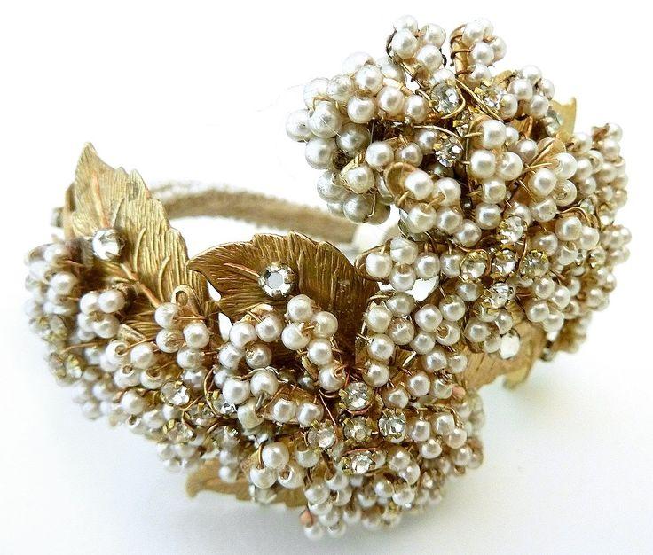 Vintage Guaranteed Early Miriam Haskell Wrap Bracelet