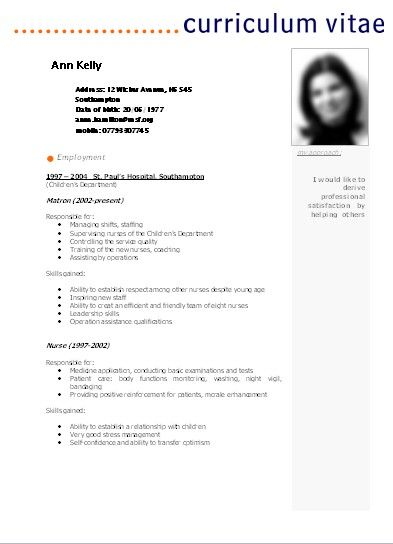 ideas for a resume