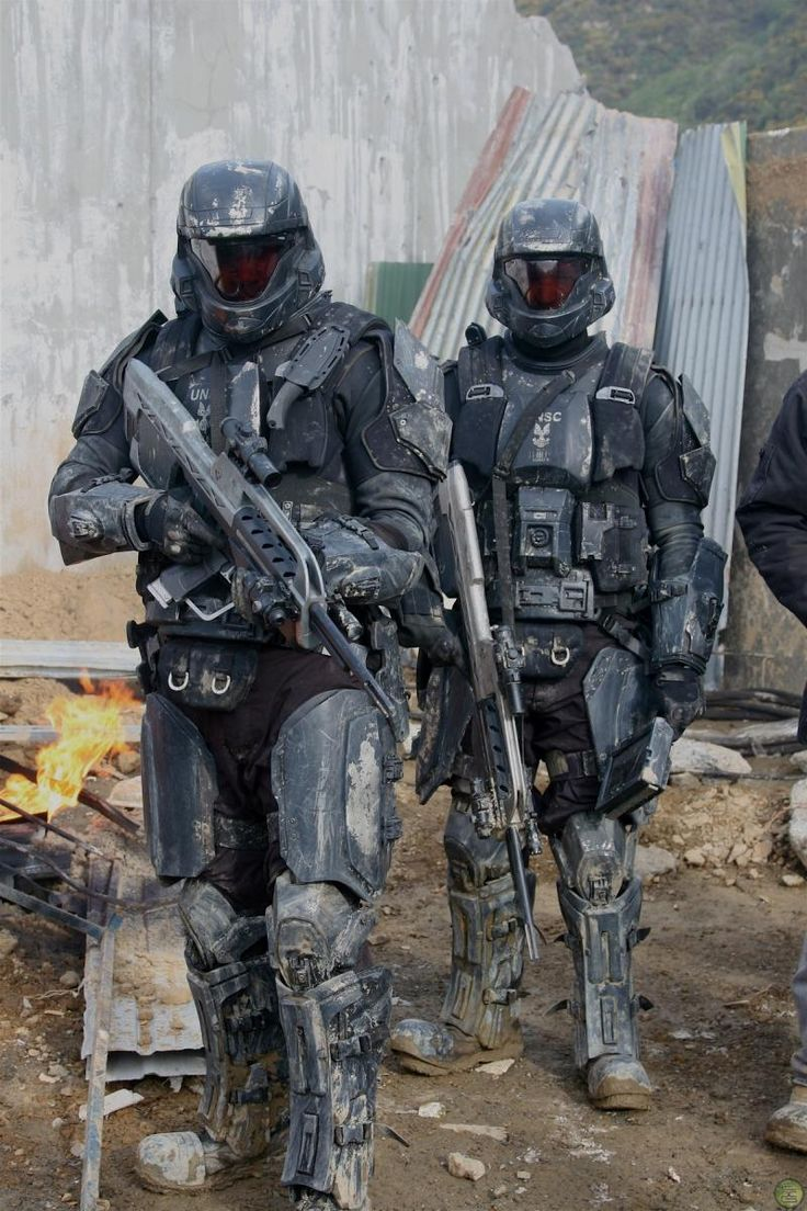 Halo ODST of the UNSC - Futuristic Soldiers, Armor, Future, Military, Weapons, Helmet