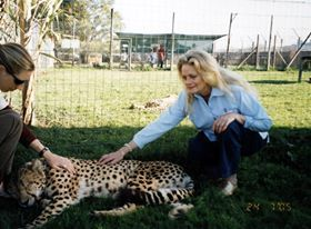 At Cheetah Outreach program outside Strand/Somerset West, South Africa, years ago, when it was at Spier Wine Estate.