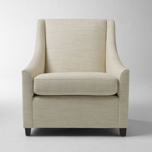 Sweep Armchair - Solids | west elm - this is a great chair for any room - 86 Best Images About Living Room Ideas On Pinterest Dark Grey