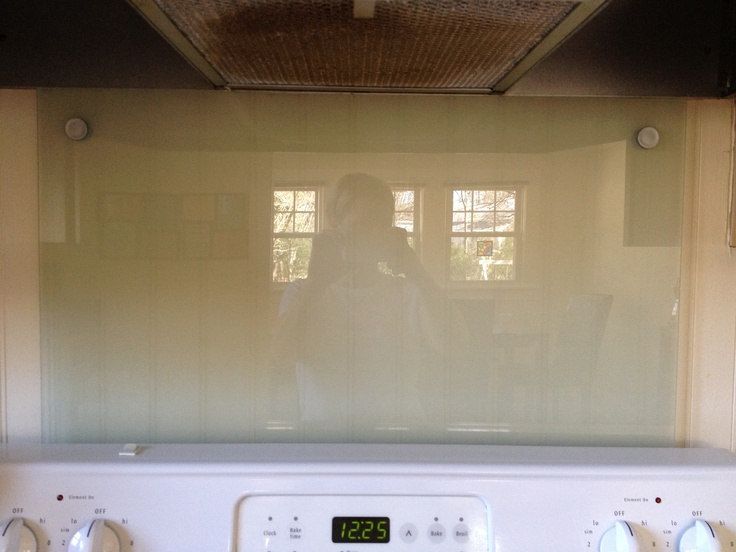 Diy Glass Backsplash From An Ikea Glass Message Board A Fraction Of The Cost Of