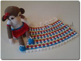 Steek voor steek: Patroon voor rokje in granny-stripe
