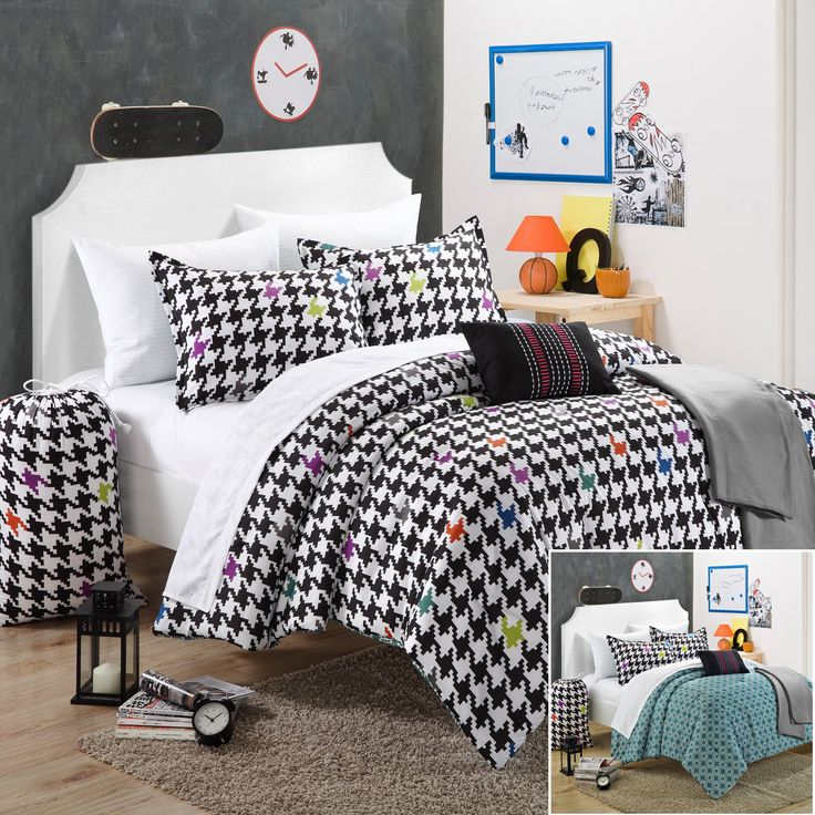 Chic Home Michelle Comforter Set Full Size, Shams Decorative Pillows And  Sheet Set Included. Perfect For Young Adults And College Kids Series.