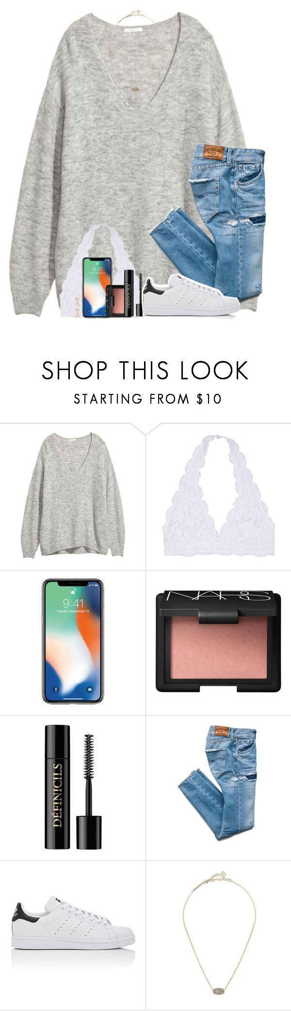 """Going thrifting with @maggienorris today!"" by amberfmillard-1 ❤ liked on Polyvore featuring NARS Cosmetics, Lancôme, adidas, Kendra Scott and Kate Spade"