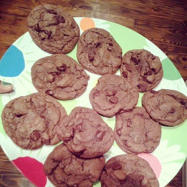 Nutella cookies. For the coworkers. #teacher #Nutella #bakingbitchesonly #callmeCookie #mygoodiesnotmygoodies #brown #mycookiesarebrownlikemyskin #brownskin #iammadewithnutella #racism #blacklivesmatter #backtothepoint #nutellacookies