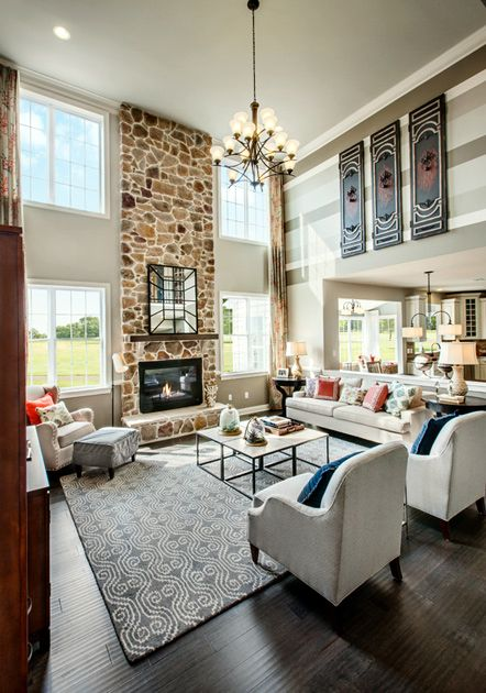 This Family Room Is Perfect On A Cold Winter Night, Cozy Up By The Fire And  Everything Will Be Alright. (Toll Brothers High Pointe At St.