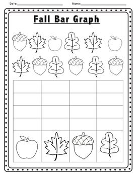 fall themed math and literacy activities. fall graph kindergarten