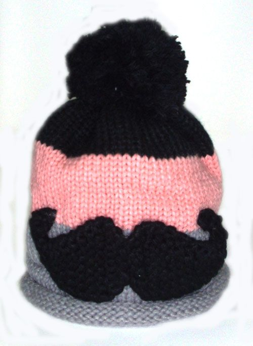 three coloured striped moustache fashion beannie_fashion woman accessories.